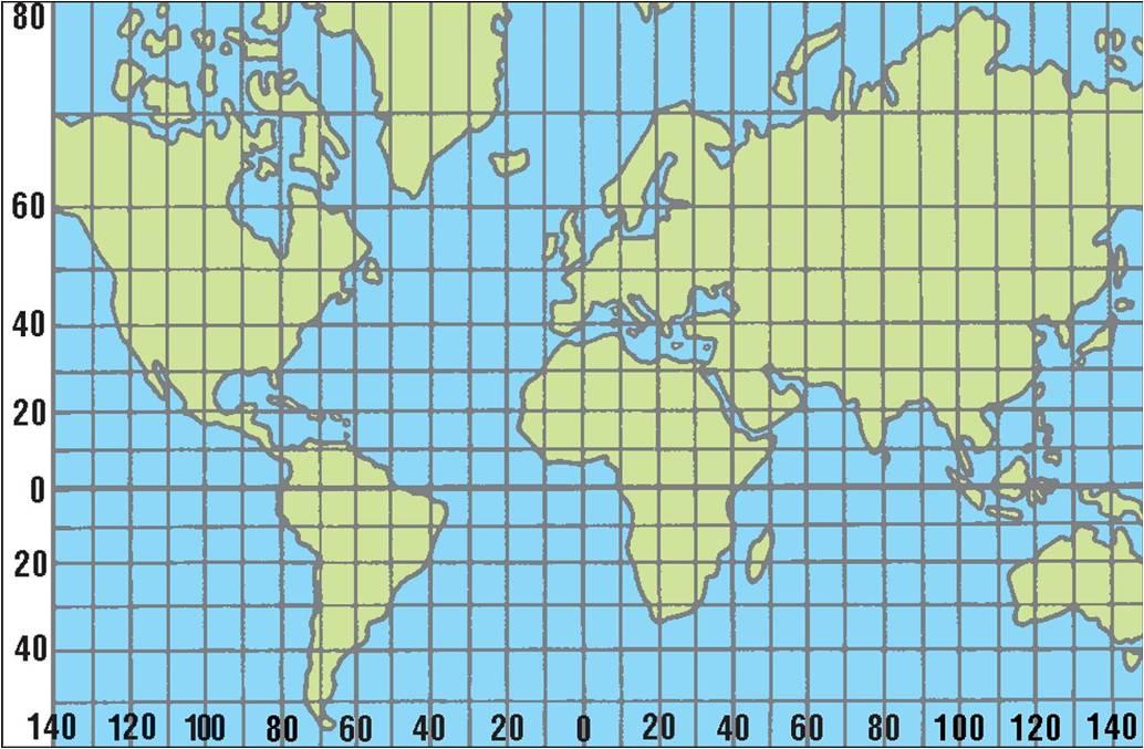 Karta Svijeta Meridijani Karta